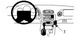 Fixation voiture Proclip  Brodit Chevrolet Corvette Réf 852659