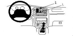 Fixation voiture Proclip  Brodit Chevrolet Tracker Réf 852662