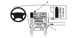 Fixation voiture Proclip  Brodit Lexus LS Series  PAS pour tableau de bord avec le navigateur. Réf 852666