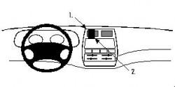 Fixation voiture Proclip  Brodit Ford Maverick Réf 852672