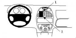 Fixation voiture Proclip  Brodit Peugeot 206 Réf 852673