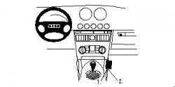 Fixation voiture Proclip  Brodit Audi TT Réf 852676