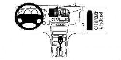 Fixation voiture Proclip  Brodit Hyundai Sonata Réf 852677