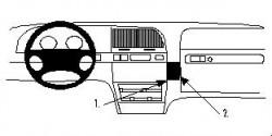 Fixation voiture Proclip  Brodit Citroen Xantia II Réf 852683