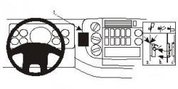 Fixation voiture Proclip  Brodit Mercedes Benz Atego Réf 852686