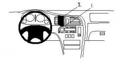 Fixation voiture Proclip  Brodit Subaru Legacy Réf 852691