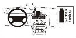 Fixation voiture Proclip  Brodit Chrysler Neon Réf 852704