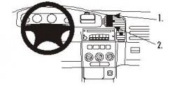 Fixation voiture Proclip  Brodit Opel Zafira A Réf 852713