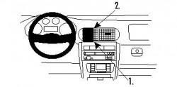 Fixation voiture Proclip  Brodit Seat Leon Réf 852717