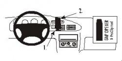 Fixation voiture Proclip  Brodit Ford Ranger Réf 852727