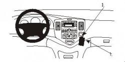 Fixation voiture Proclip  Brodit Mazda MPV Réf 852743