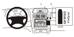 Fixation voiture Proclip  Brodit Mitsubishi Pajero Pinin Réf 852747