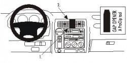 Fixation voiture Proclip  Brodit Toyota LandCruiser 90 Réf 852749