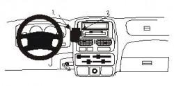 Fixation voiture Proclip  Brodit Nissan King Cab  SEULEMENT pour la stéréo d'origine. Réf 852751