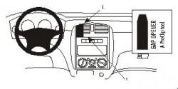 Fixation voiture Proclip  Brodit Mazda Premacy Réf 852753