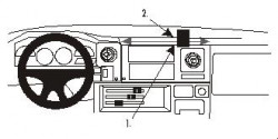 Fixation voiture Proclip  Brodit Toyota LandCruiser 70 Réf 852758