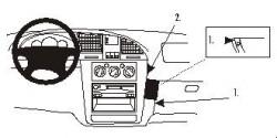 Fixation voiture Proclip  Brodit Daewoo Nubira Réf 852759