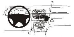 Fixation voiture Proclip  Brodit Fiat Punto Réf 852760
