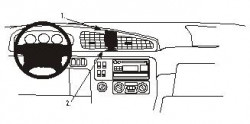 Fixation voiture Proclip  Brodit Kia Carnival Réf 852763