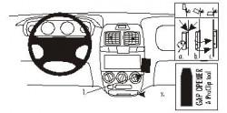 Fixation voiture Proclip  Brodit Hyundai Accent Réf 852767