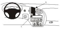Fixation voiture Proclip  Brodit Chevrolet Monte Carlo Réf 852776