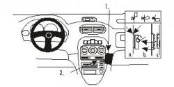 Fixation voiture Proclip  Brodit MG ZR Réf 852785