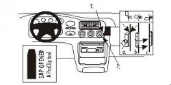 Fixation voiture Proclip  Brodit Ford Escort Réf 852792