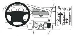 Fixation voiture Proclip  Brodit Nissan Primera  UNIQUEMENT pour P11U. Réf 852797
