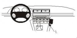 Fixation voiture Proclip  Brodit BMW 520-540/M5 E39 Réf 852806