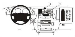 Fixation voiture Proclip  Brodit Hyundai Trajet Réf 852813