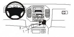 Fixation voiture Proclip  Brodit Mitsubishi Montero Réf 852816