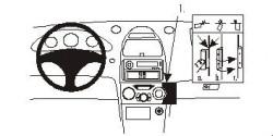 Fixation voiture Proclip  Brodit Toyota Celica Réf 852818
