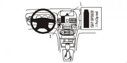 Fixation voiture Proclip  Brodit Nissan Almera Réf 852823