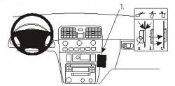 Fixation voiture Proclip  Brodit Volvo S40 Réf 852825