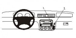 Fixation voiture Proclip  Brodit Honda CR-V Réf 852827