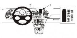 Fixation voiture Proclip  Brodit Saab 9-3  PAS pour le grain de panneau de bois / kevlar look. Réf 852830