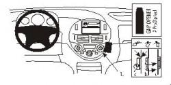 Fixation voiture Proclip  Brodit Toyota Previa Réf 852831
