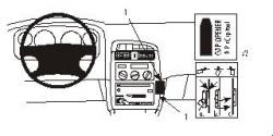 Fixation voiture Proclip  Brodit Toyota Avensis Réf 852846