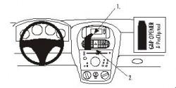 Fixation voiture Proclip  Brodit Opel Combo  SEULEMENT pour les modèles avec écran d'information. Réf 852855