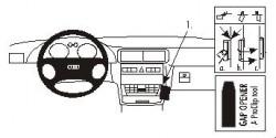 Fixation voiture Proclip  Brodit Audi A3 Réf 852857