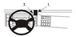 Fixation voiture Proclip  Brodit Volvo FL6 Réf 852859