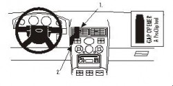 Fixation voiture Proclip  Brodit Ford Mondeo Réf 852861