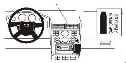 Fixation voiture Proclip  Brodit Ford Mondeo  Va bloquer le porte-gobelet. Réf 852862