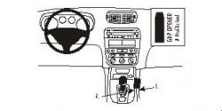 Fixation voiture Proclip  Brodit Alfa Romeo 147 Réf 852866