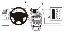 Fixation voiture Proclip  Brodit Citroen Xsara Réf 852869