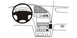 Fixation voiture Proclip  Brodit Hyundai Elantra  PAS pour la finition bois Réf 852873
