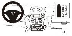 Fixation voiture Proclip  Brodit Toyota Echo Réf 852882
