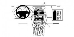 Fixation voiture Proclip  Brodit Subaru Impreza  WRX: NON aux modèles WRX limitée à hayon. Réf 852885