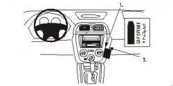 Fixation voiture Proclip  Brodit Subaru Impreza Réf 852886