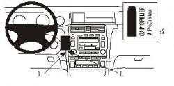 Fixation voiture Proclip  Brodit Toyota Avalon Réf 852890